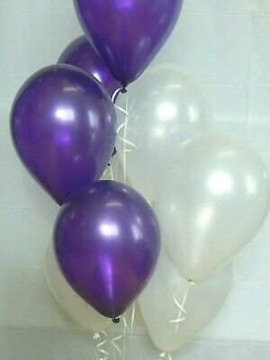 Purple Balloons,Dark Purple, White Balloons,Shower Decorations Birthday Party (Purple And White Birthday Decorations)