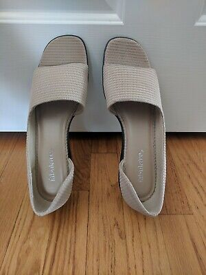 NWB SASSY FABULAIRE STRAW PEEP TOE  SUMMER SANDALS  9.5 , used for sale  Henrico