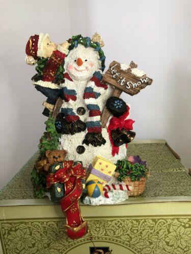 Grandeur Noel Snowman Stocking Holder  Let It Snow