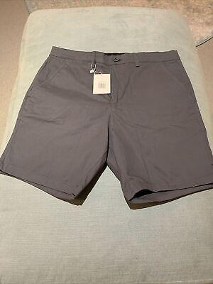 Eubi Charcoal Grey All Day Shorts, Size Medium