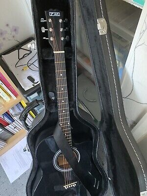 3RD AVENUE FULL SIZE ELECTRO ACOUSTIC GUITAR Never Played And Hard Case Black