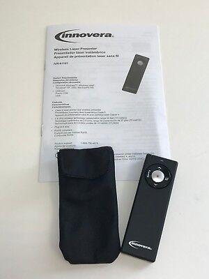 Innovera Wireless Presenter With Laser Pointer Matte Black 61101