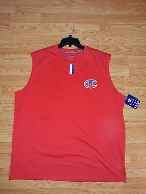 Mens CHAMPION T-shirt  Tank Top size 2XL New with  Tags sleeveless color Red
