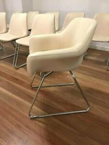 Set of 10 Iconic Sebel Hobnob Leather Dining Chairs, RRP: $3,000