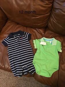 12 month rompers 1 bnwt