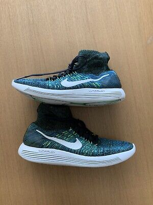 Nike lunarepic flyknit Mens Uk 8.5 Green Running trainers Used