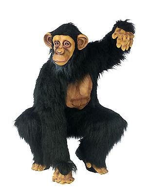 Adult Chimp Chimpanzee Gorilla Full Suit Costume One - Chimp Costumes