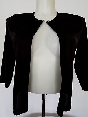 cardigan sweater for women size M open front CITE black color