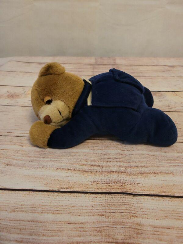 "Prince Lionheart Slumber Bear Teddy Bear Blue. Plush 12"" Just the plush"