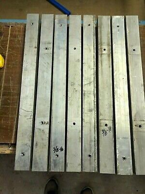 2 X 2 X 24 Aluminum Square Bar Used With Holes