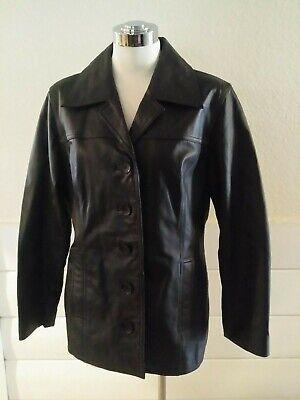 Used, Jacqueline Ferrar Leather Jacket Blazer for sale  Shipping to India