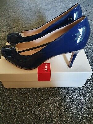 Hogl navy patent leather stiletto heel shoes, size 6.5, new in box