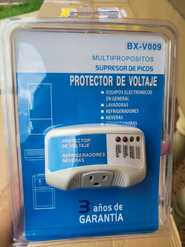Protector De Voltaje para Enseres Voltage Protector for appliances 120v BX-V009