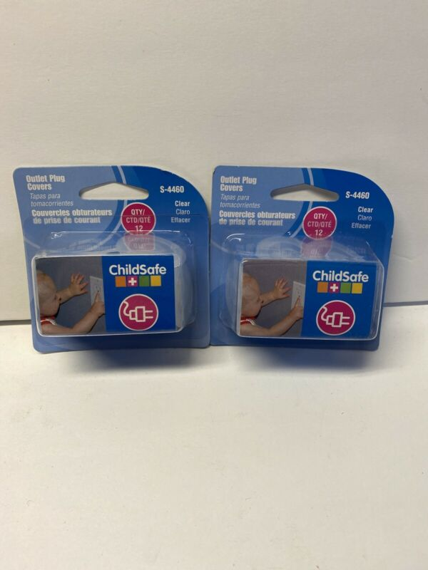 24 Pack Child Safe S-4460 Outlet Plug Covers, Clear, FREE SHIPPING