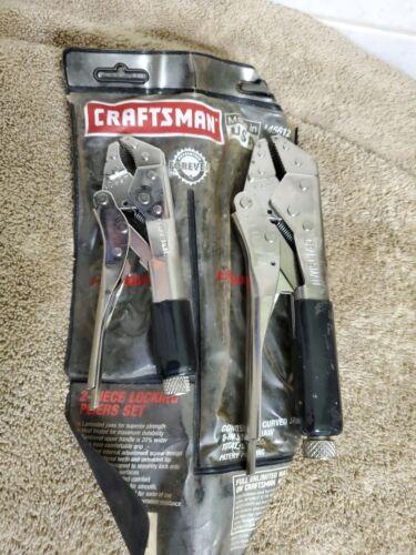 Sears Craftsman Locking Pliers Set 6 Inch Curved 8 Inch Stra