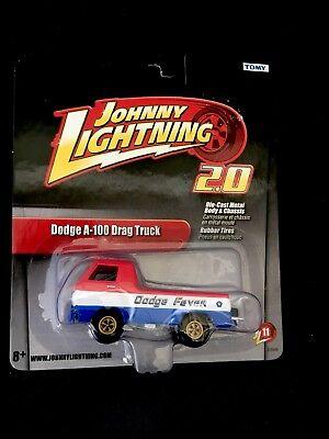 JOHNNY LIGHTNING DODGE A-100 DRAG TRUCK 2.0 RUBBER TIRES DODGE FEVER LOGO