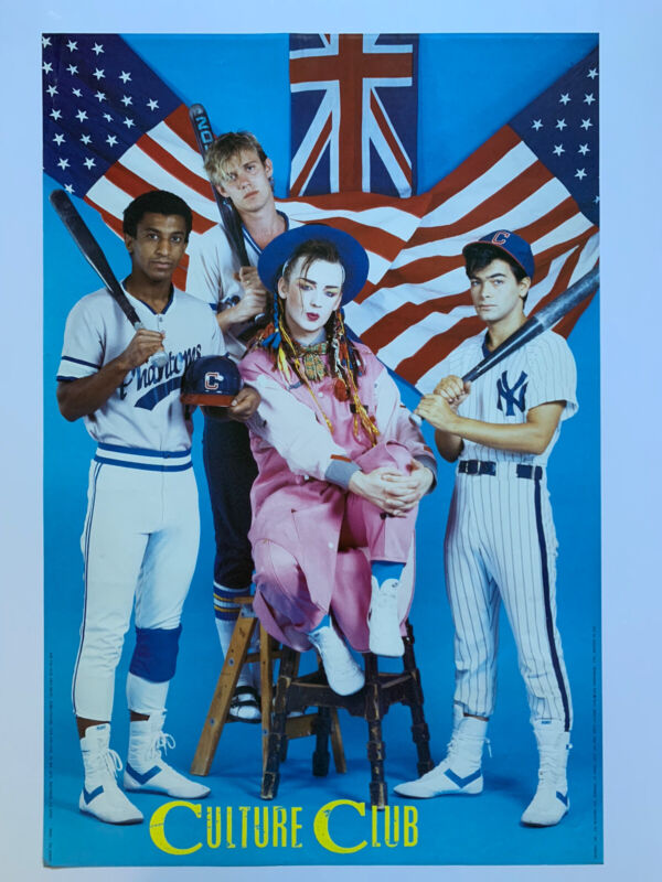 "Original 1984 Culture Club Poster 24"" x 36"" 1980"