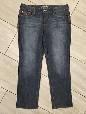 Women's 18 Faded Glory stretch jeans: Straight fit, dark wash, flattering