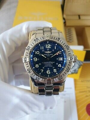 Breitling Superocean Blue Men's Watch A17360 Stunning blue Dial Great Condition