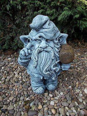 Gnomes/Dwarfs with Hammer concrete garden ornament