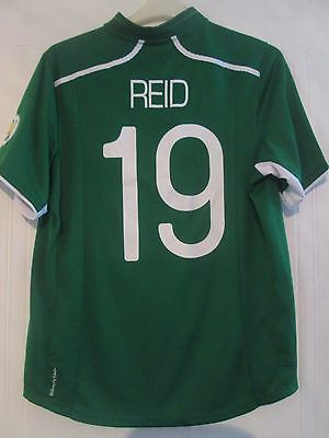 Andy Reid Match Worn Ireland v Kazakhstan 2013 Home Football Shirt last match image