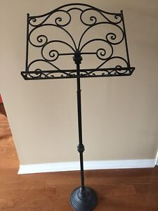 Iron Music Stand - Functional and Classy: $35