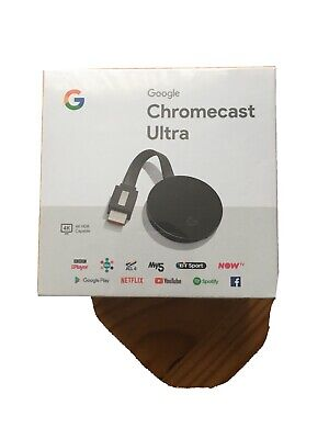 Google Chromecast Ultra HD 4K HDR Media Streaming Stick New Sealed