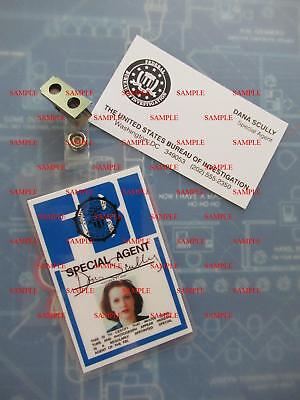 Used, X - Files Fox Dana Scully's (Gillian Anderson) FBI ID Badge & Business Card for sale  Douglasville