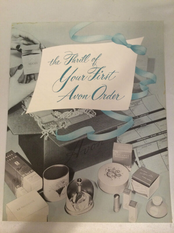 """RARE!! Vintage AVON """"First Order"""" New Rep Guide - MINT CONDITION!"""
