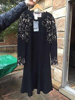 NWT $ 2835 Alexander McQueen Stunning Black Dress Size 44/10-12