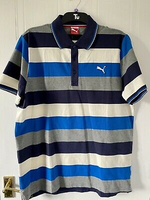 Puma Golf Mens Striped Polo Golf Shirt - XL