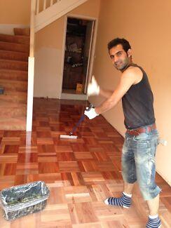 Professional floor sanding&polishing
