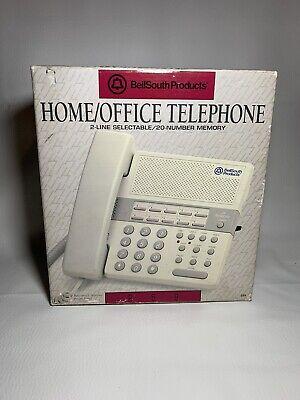 Bellsouth Home Office Landline Telephone 2 Line Selectable 20 Number Memory 259
