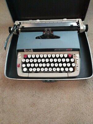 SCM Smith Corona CLASSIC 12 Typewriter Blue with Case