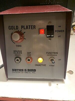 Used Dental Lab Equipment Yates And Bird Gold Plater