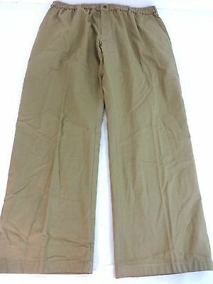 HABAND FIT FOREVER MENS LATTE TAN PLEATED DRESS PANTS W/ FLANNEL LINING 40 X 28