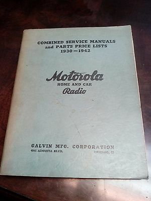 Motorola Radio Stereo 1930 - 1942 Vtg Antique Home Car Repair Service