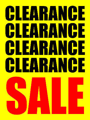 Clearance Sale 18 X24  Business Store Retail Signs