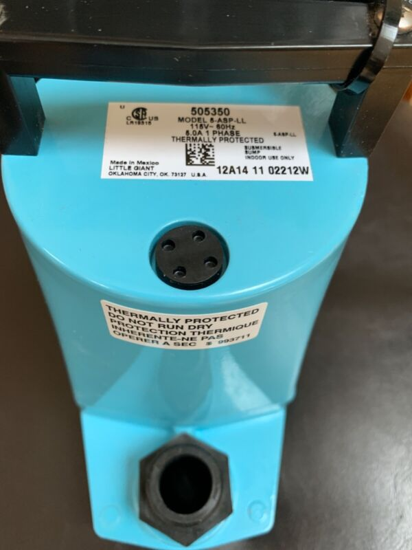 Little Giant 5-ASP-LL 5 Series 1/6 HP Submersible Utility Pump