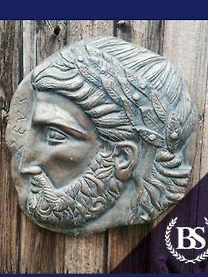 Ancient greek Zeus wall plaque garden ornament mould/mold (Latex only) £55.00