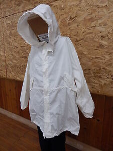 Military Snow Camouflage White Camo Winter Jacket Coat Parka XL, excellent cond
