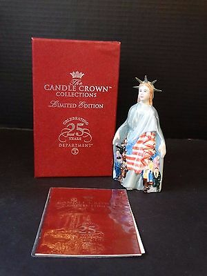 Dept 56 Candle Crown Collections ~ LADY LIBERTY ~ Ltd. Ed. 179/5,600 ~ NIB