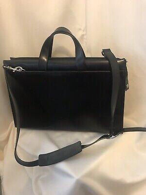 Jack Georges Double Gusset Top Zip Briefcase in Black