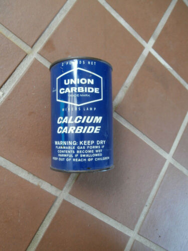 Miners Lamp Calcium Carbide, Union Carbide Corp. Can (3/4 Full)