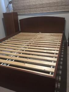 Ikea Malm queen bed frame with latex Sultan mattress