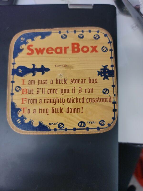 Vintage SWEAR BOX Coin Bank Funny Novelty