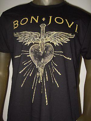 New Mens Bon Jovi Stabbed Bleeding Heart And Dagger Rock Band Tee Shirt Bonjovi