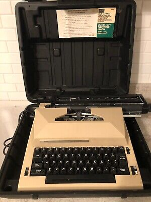 Sears The Scholar w Correction Electric Typewriter Model 161.53772 WORKS