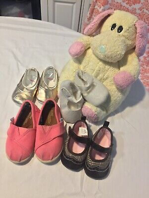 Baby Shoes Baby Gap, Gymboree, Toms plus TY Large Baby Rattle Toy Animal for sale  Jacksonville