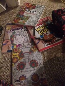 colouring books and felts